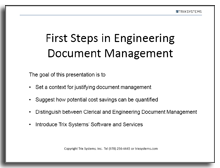 First steps in engineering document management cover